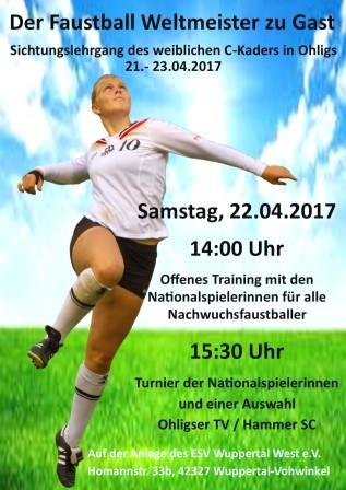 Der Faustball Weltmeister zu Gast - Offenes Kindertraining am 22.04.17