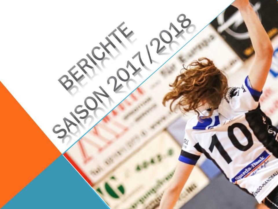 Handball: Spielberichte vom Wochenende 07-08.10.2017